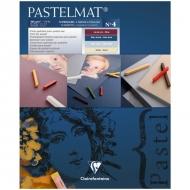 """Альбом для пастели Clairefontaine """"Pastelmat"""", 240х300 мм, 360г/м2, склейка, 12 л, бархат, цветной блок"""