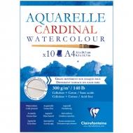 """Альбом для акварели Clairefontaine """"Cardinal"""", А4, 300г/м2, торшон, холод.пресс., склейка, 10 л."""