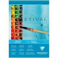 """Альбом для акварели Clairefontaine """"Etival"""", А5, 200г/м2, холод.пресс., склейка, 10 л."""