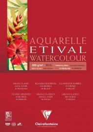 """Альбом для акварели Clairefontaine """"Etival"""", А5, 200г/м2, склейка, 10 л."""