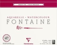 Альбом-склейка для акварели CLAIREFONTAINE Fontаine, среднее зерно, 300 г/м2, 24*30 см, 25л