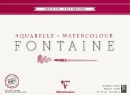Альбом-склейка для акварели Clairefontaine Fontаine,100% хлопок, Fin,среднее зерно, 300 г/м2 , 30*40 см, 25 л.