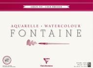 Альбом-склейка для акварели CLAIREFONTAINE Fontаine, среднее зерно, 300 г/м2, 36*48 см, 25л