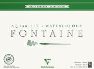 Альбом-склейка для акварели CLAIREFONTAINE Fontаine, торшон, крупн. зерн, 300 г, 30*40 см, 25л