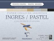 """Альбом для пастели Clairefontaine """"Ingres"""", 180х240 мм, 130 г/м2, склейка, 25 л, верже, хлопок, 8 цв."""
