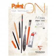 """Альбом для смешанных техник Clairefontaine """"Paint'ON"""", А4, 250 г/м2, склейка, 40 л."""