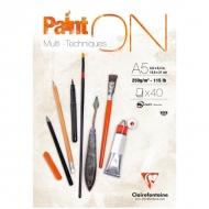 """Альбом для смешанных техник Clairefontaine """"Paint'ON"""", А5, 250 г/м2, склейка, 40 л."""