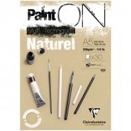 """Альбом для смешанных техник Clairefontaine """"Paint'ON Naturel"""", А5, 250 г/м2, склейка, 30 л., крафт"""
