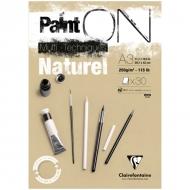 """Альбом для смешанных техник Clairefontaine """"Paint'ON Naturel"""", А3, 250 г/м2, склейка, 30 л., крафт"""
