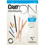 "Блокнот для эскизов Clairefontaine ""Cray'ON"", А5, 120 г/м2, склейка, 50 л."