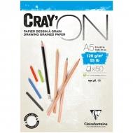 """Блокнот для эскизов Clairefontaine """"Cray'ON"""", А5, 120 г/м2, склейка, 50 л."""