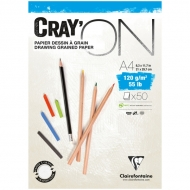 "Блокнот для эскизов Clairefontaine ""Cray'ON"", А4, 120 г/м2, склейка, 50 л."