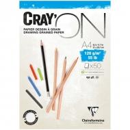 """Блокнот для эскизов Clairefontaine """"Cray'ON"""", А4, 120 г/м2, склейка, 50 л."""