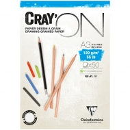 "Блокнот для эскизов Clairefontaine ""Cray'ON"", А3, 120 г/м2, склейка, 50 л."