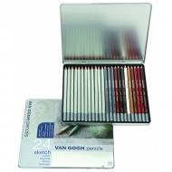 Набор графитовых и цветных карандашей для скетчинга Royal Talens Van Gogh Sketch, 24 шт