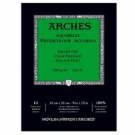 Альбом для акварели Arches 300г/кв.м (хлопок) 23*31см, 12 листов Фин, склейка