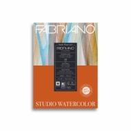 Альбом для акварели Fabriano Watercolour Studio 300г/кв.м (25%хлопок) 22,9x30,5см Сатин 12л склейка по 1 стороне
