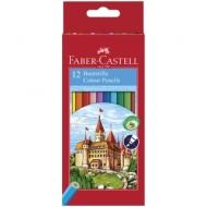 """Карандаши Faber-Castell """"Замок"""", 12цв., заточен., картон, европодвес"""