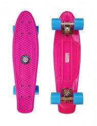Скейт Cruiser Board Street Hit Classic Розовый с голубыми колесами