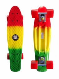 "Скейт Cruiser Board ""Street Hit"" Mix Красный/зеленый"