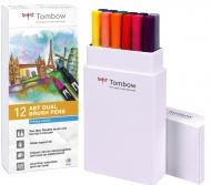 Набор маркеров Tombow ABT set primary colors 12 шт., основные тона