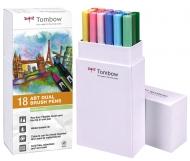 Набор маркеров Tombow ABT set pastel colors 18 шт., пастельные тона