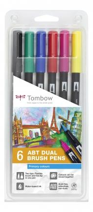 Набор маркеров Tombow ABT set primary colors 6 шт., основные тона