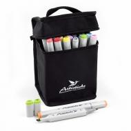 Набор художественных маркеров для скетчинга  Artisticks Style 100bag, 24 цвета, 2-сторонние, 1-6 мм