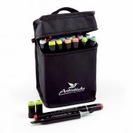 Набор спиртовых маркеров для рисования Artisticks Brush 102bag, 24 цвета, 2-сторонние, 1-6 мм