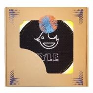Набор для игры Мультидиск FYLE Mini (2в1 Бадминтон и Фрисби) 30 см, оранжево-голубой