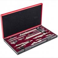 Готовальня Koh-i-Noor 14 предметов, профессиональный инструмент для высокоточных чертежных работ, в подарочной упаковке