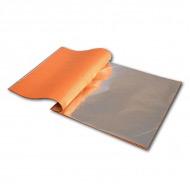 Поталь AZIENDA для золочения, имитация серебра, 25 листов 14х14 см (24 книжки)