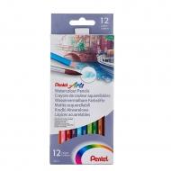Цветные акварельные карандаши Pentel Watercolour Pencils 12 шт.