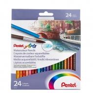 Цветные акварельные карандаши Pentel Watercolour Pencils 24 шт.