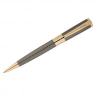 """Ручка шариковая Delucci """"Allegro"""", синяя, 1,0мм, корпус золото/оружейный металл, поворот., подар.уп."""