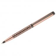 """Ручка шариковая Delucci """"Legato"""", синяя, 1,0мм, корпус медь/оружейный металл/гравировка, подар.уп."""