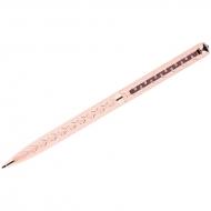 """Ручка шариковая Delucci """"Aurora"""", синяя, 1мм, цвет корпуса - золото, поворот., подар.уп."""