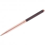 """Ручка шариковая Delucci """"Mille"""", синяя, 1мм, цвет корпуса - черный/золото, поворот., подар.уп."""