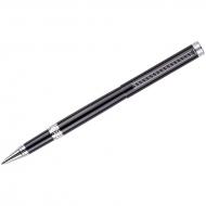 """Ручка-роллер Delucci """"Classico"""", чёрная, 0,6мм, цвет корпуса - чёрный/хром, поворот., подар.уп."""