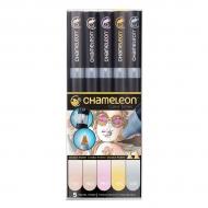 Набор художественных маркеров Chameleon Pastel Tones, пастельные тона, 5 шт