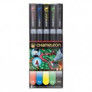 Набор маркеров Chameleon Primary Tones, основные цвета, 5 шт