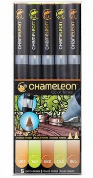 Набор художественных маркеров Chameleon Earth Tones, оттенки земли, 5 шт