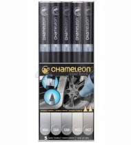 Набор художественных маркеров Chameleon Gray Tones, серые тона, 5 шт