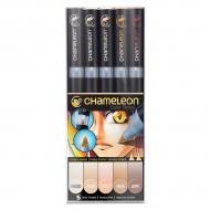 Набор маркеров Chameleon Skin Tones, телесные тона, 5 шт