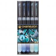 Набор художественных маркеров Chameleon Blue Tones, голубые тона, 5 шт