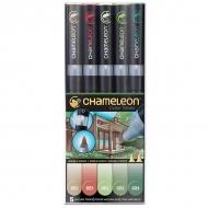 Набор художественных маркеров Chameleon Nature Tones, природные тона, 5 шт