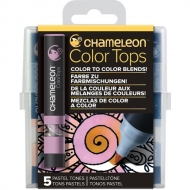 Набор цветовых блендеров Chameleon Pastel Tones, пастельные тона, 5 шт