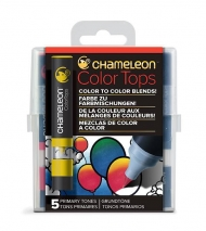 Набор цветовых блендеров Chameleon Primary Tones, основные цвета, 5 шт