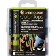 Набор цветовых блендеров Chameleon Earth Tones, оттенки земли, 5 шт