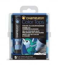 Набор цветовых блендеров Chameleon Blue Tones, голубые тона, 5 шт